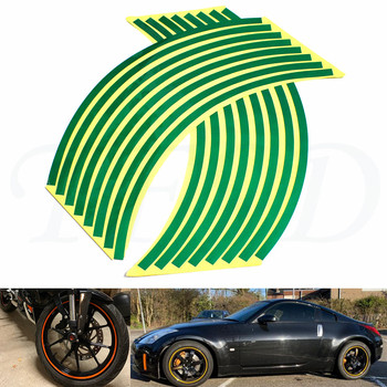 Car motorcycle Tire Rim Stickers 17-19 Reflective Car-Covers Tape Wheel Tyre Sticker Decors For DUCATI Monster 1100/S/EVO image
