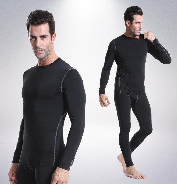 Men's Skintight Training PRO Sports Fitness Running Long Sleeve Sweatshirt Long Sleeve Shirt T-shirt
