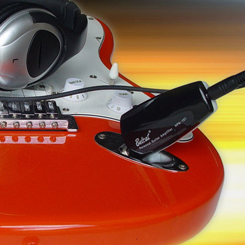 Personal Guitar amplifier with clean and distortion sound headphone Guitar amplifier(Black  White  Blue  Red color option)