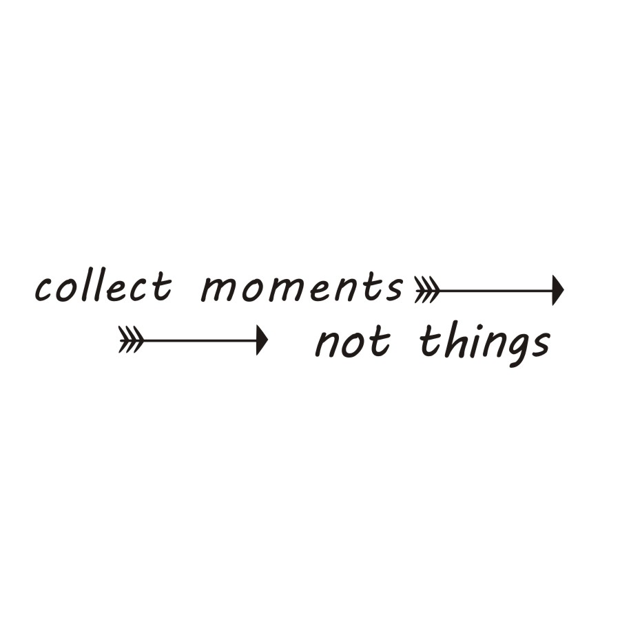 Collect Moments Not Things Wall Stickers Quotes Arrows Wall Decals Living Room DIY Self Adhesive Wallpaper  Home Decor(China)