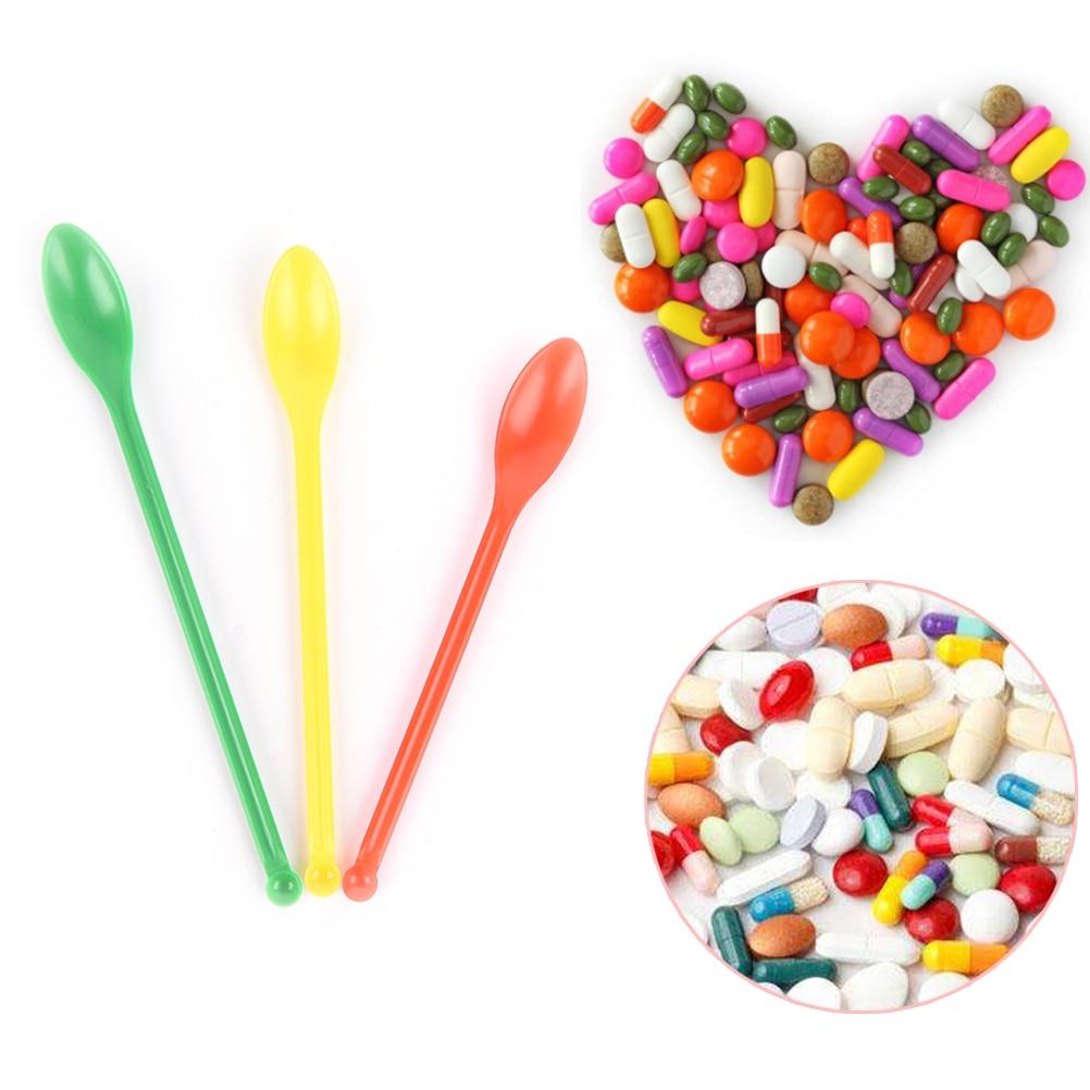 3pcs Lab Spoon/ Spatula Microspatulas Plastic 1set=3pcs Medicine Spoons