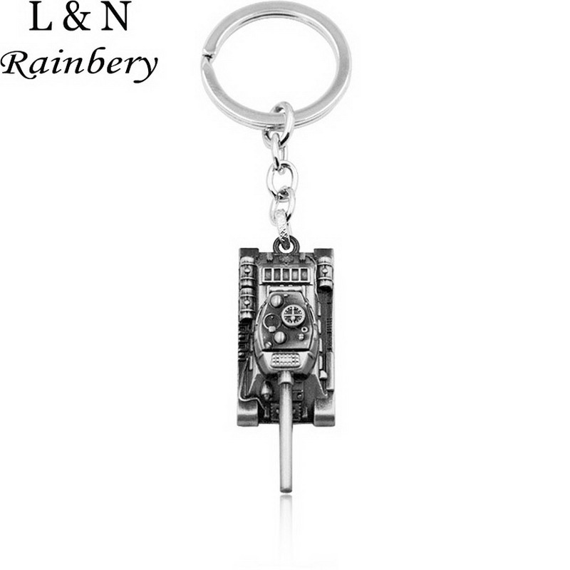 Rainbery Wot Game World Tanks KeyChain Alloy Metal Tank Model Pendent Keyring Gift Key Chain Ring Holder For Car Fans Souvenirs
