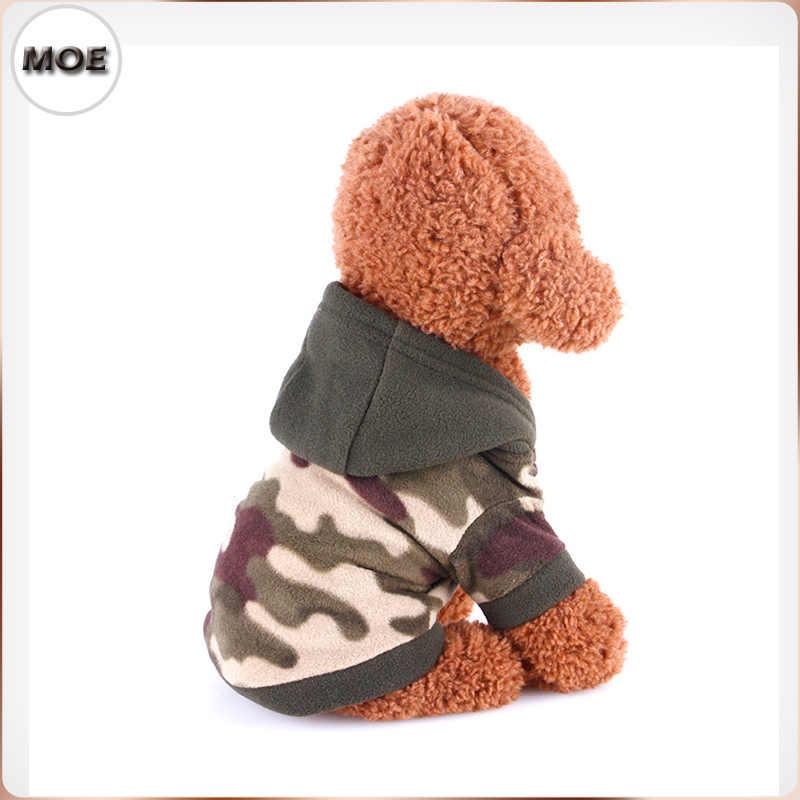 Sudaderas con capucha de diseño de camuflaje para perros en Navidad 2017