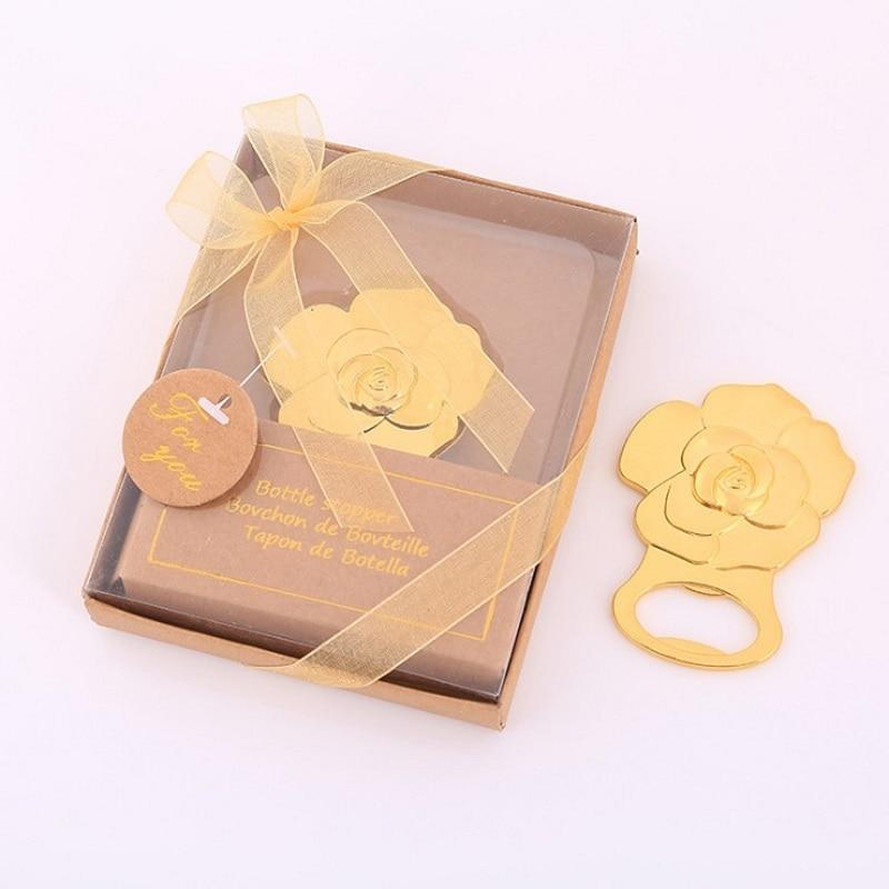 Golden rose bottle opener creative gift wedding favor W9030