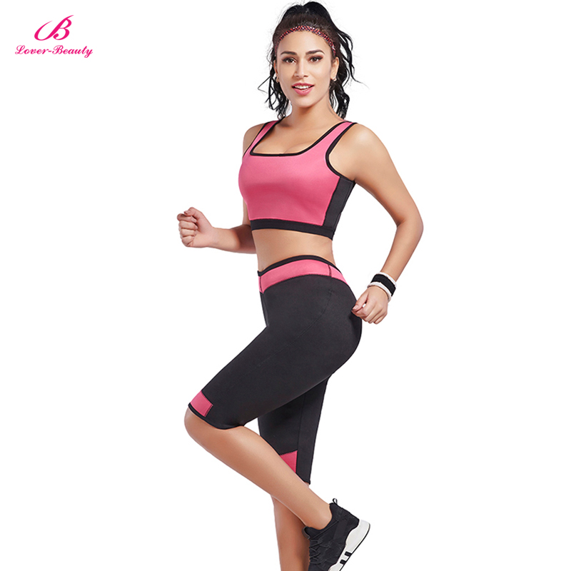 Lover-Beauty Neoprene Sweat Shirt Wrap Shaper Body Shaper Warm Shapewear Lingerie Shaper Bodysuit Weight Loss Sets Top + Pants