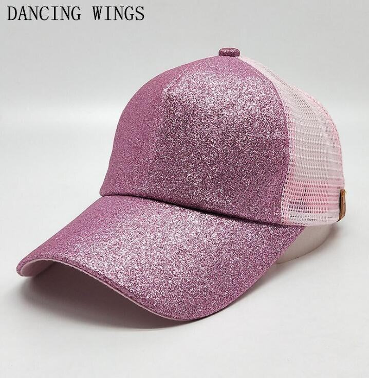 10 Pcs/Pack été rose paillettes casquettes de Baseball femmes ajustées casquette en maille Sports de plein air respirant chapeau de soleil été Gorras
