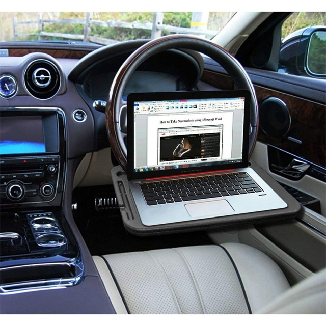 New Portable Car Desk Laptop Computer Table Steering Wheel Eat Drink Work Holder Seat Tray Stand 5