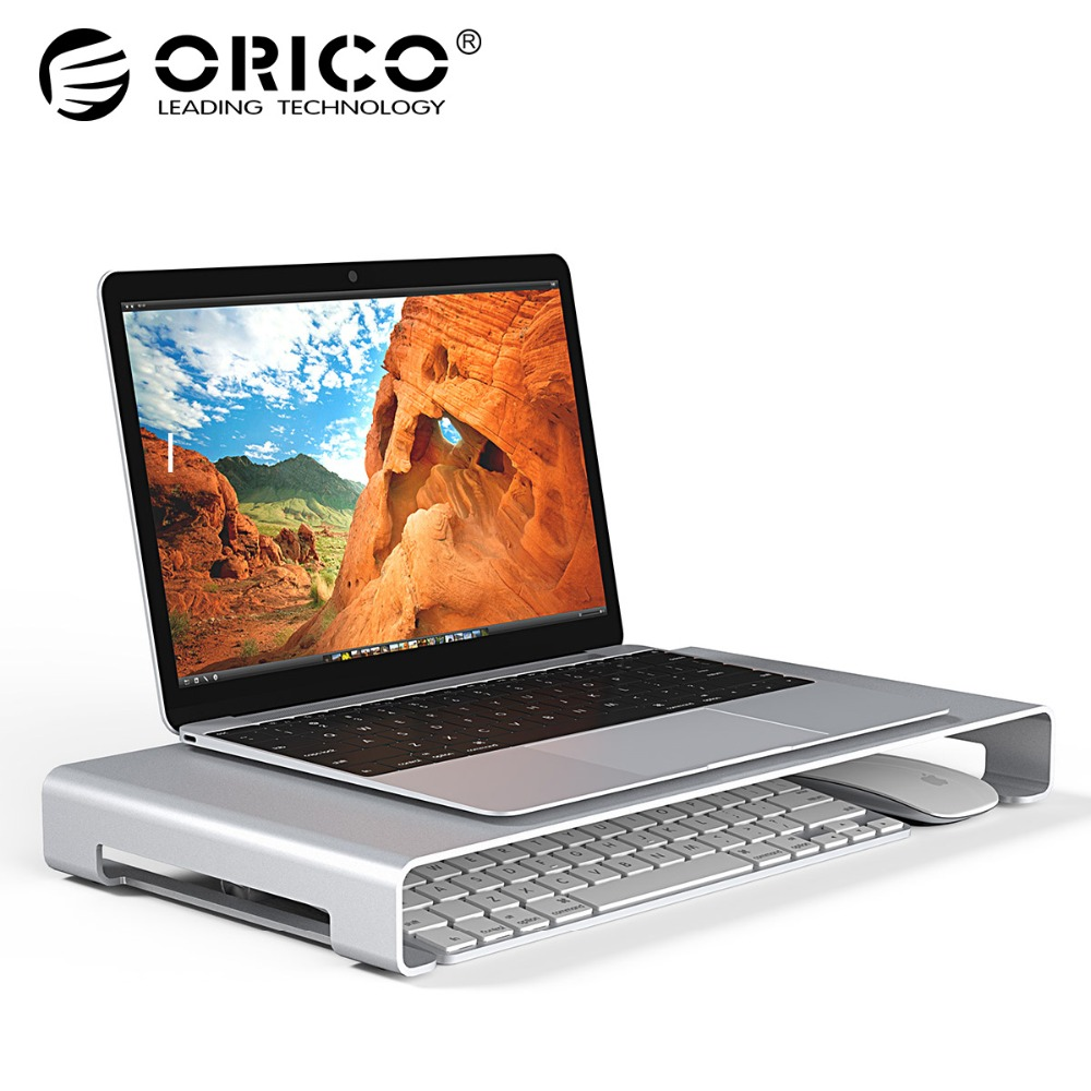 ORICO Aluminum Laptop Stand Desk Dock Holder Bracket for Apple iMac/Tablet/ MacBook Pro/PC/Notebook Base Portable Computer Stand up 10 aluminum alloy abs holder stand bracket for laptop tablet pc black silver