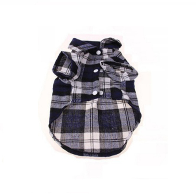 Dog Shirts Plaid England Style Dog Clothes Blouse Tops Shirts Summer Autumn For Pet Puppy Dogs Cats Clothes 3