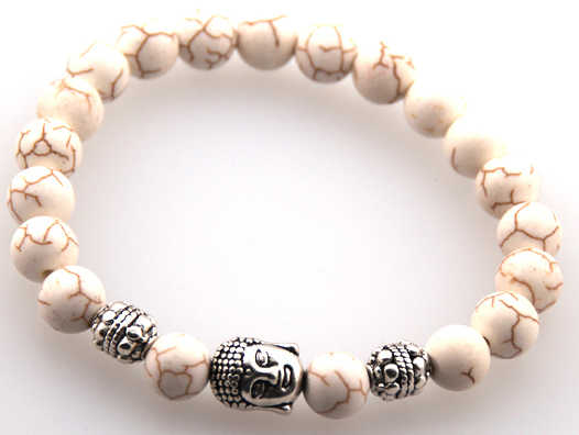 Spadek darmowa wysyłka 8mm naturalny szary pół szlachetnych budda bransoletka kamień energetyczny dla mężczyzny lub kobiety religijny koralik bransoletka