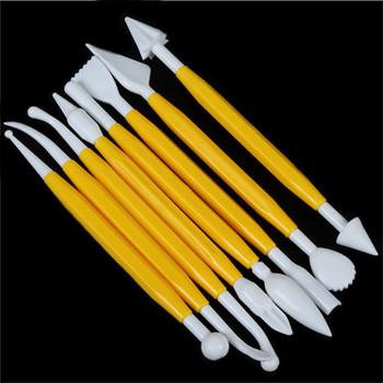 8 sztuk zestaw plastikowe narzędzia do rzeźbienia w glinie zestaw polimerowe narzędzia do modelowania gliny Poly form Sculpey narzędzia zestaw do kształtowania gliny modelina zabawki tanie i dobre opinie Cake Decorating Pen
