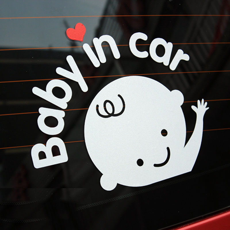 Baby in Car Mama In Car Baby Caring Reflective stickers Pregnant woman Angel Baby Car Rear