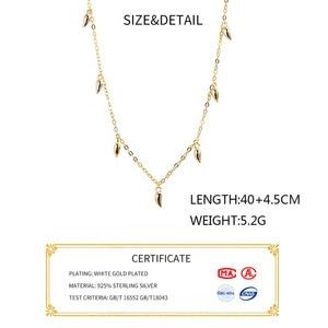 Image 3 - INZATT Echt 925 Sterling Silber Minimalis Wasser Drop Halskette Für Elegante Frauen Partei OL Feine Schmuck Geometrische Zubehör