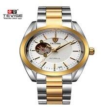 Los Hombres de lujo Marca de Relojes TEVISE Tourbillon Mecánico Automático Relojes de Los Hombres A Prueba de agua Del Calendario de Hombres Reloj de Pulsera