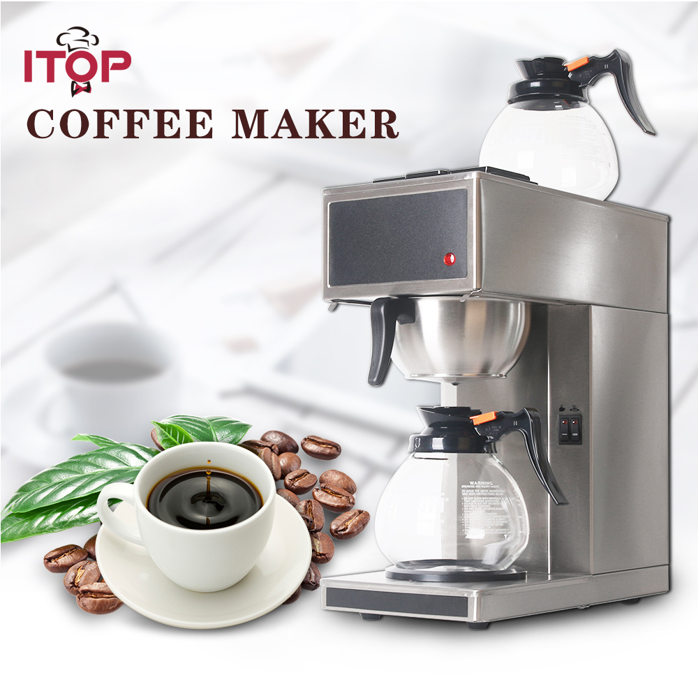 все цены на ITOP Commercial Espresso Distilling Coffee Maker Machine Stainless Steel Automatic Coffee Machine Kitchen Coffee Tools онлайн