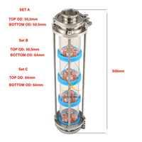 Nouvelle colonne de Distillation de plaques à bulles de cuivre avec 4 sections pour colonne de verre de distillation. Moonshine toujours