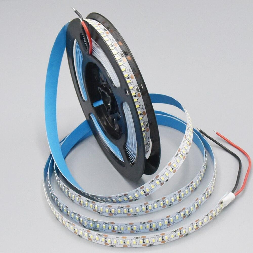 5M 1200LEDS 12V 3014 SMD LED Strip 12-14LM 240LED/M Gold Line LED Ribbon LED Tape Light Cool White Warm White Natural White
