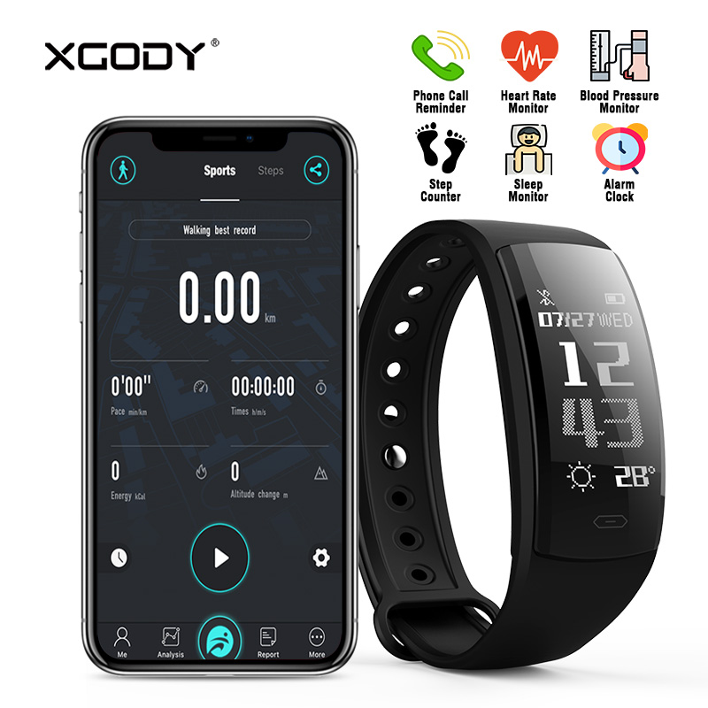 Original QS90 Bluetooth 4.0 Smart Bracelet Fitness Tracker for iOS Android Heart Rate Monitor Blood Pressure Pedometer Wristband jimate g16 pedometer smart wristband bluetooth smartband heart rate monitor blood pressure bracelet color screen for ios android