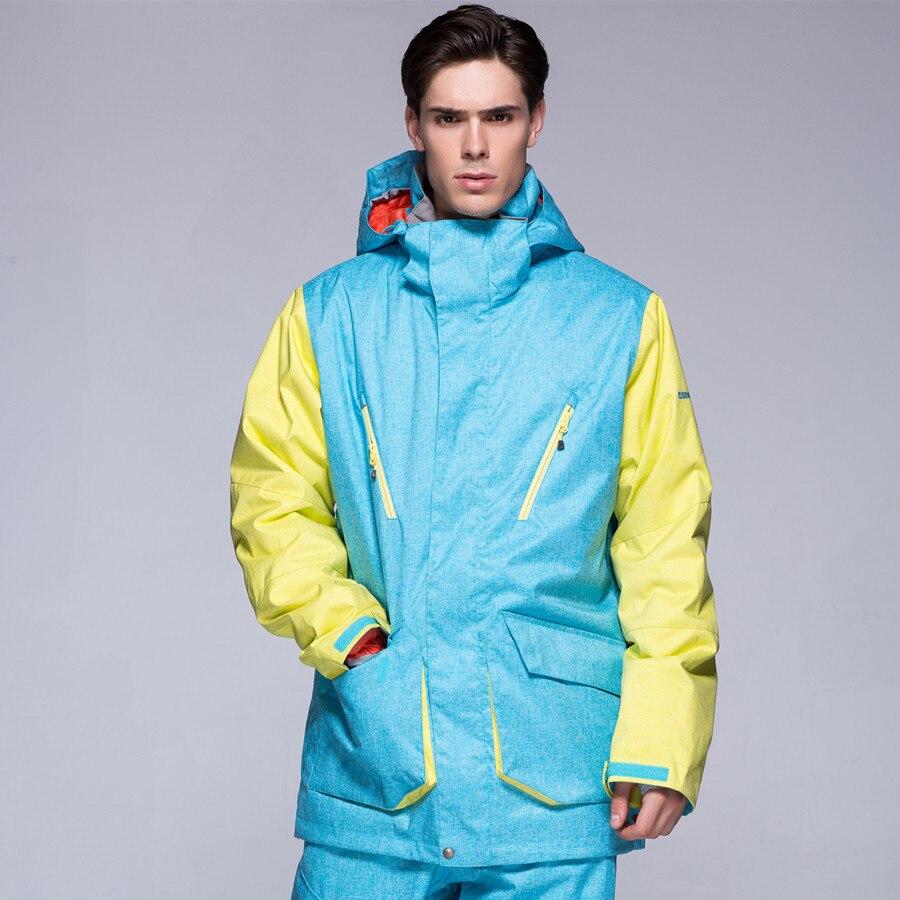 Prix pour Nouvelle Marque de GSOU SNOW hommes d'hiver en plein air Snowboard veste de ski camping manteau Épaissir Super warm-30 degré Étanche Respirant