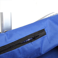 5 Pcs Of VSEN Hot Waterproof Foldable Eco Friendly Reusable Shopping Bag Grocery Basket Blue