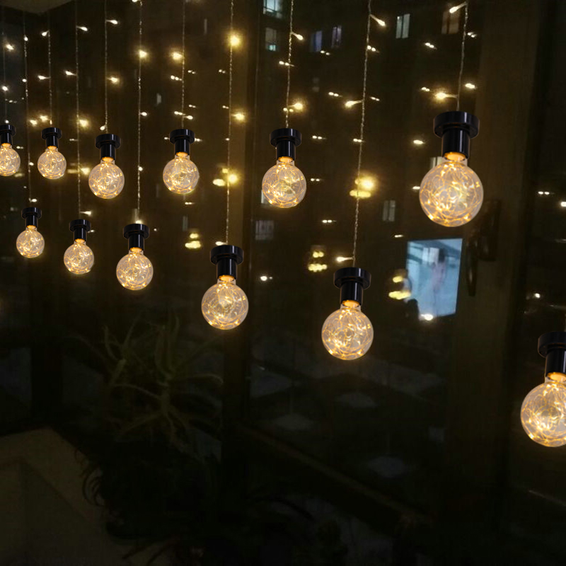 Retro unique spherical design G80 LED bulbs E27 110-240V festive string lights atmosphere