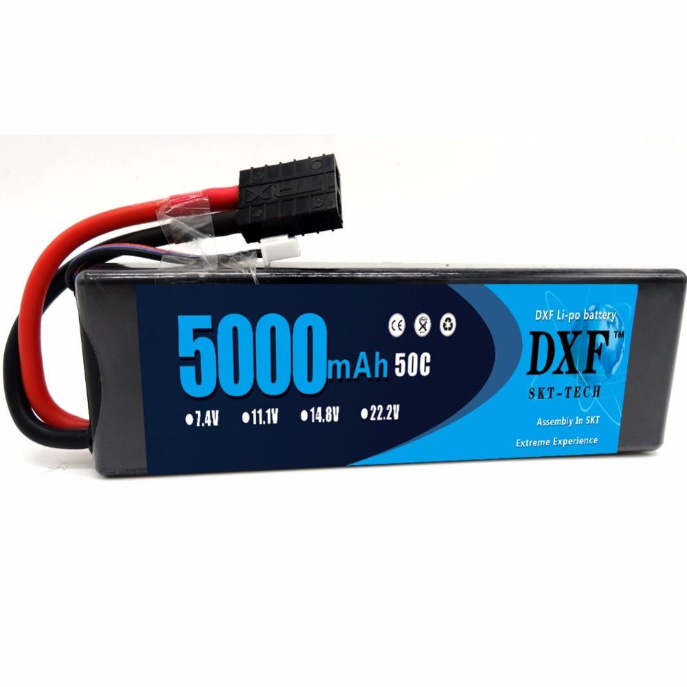 DXF 2S 7.4V 5000mAh 50C LiPo batería con TRX Plug para RC Evada BX - Juguetes con control remoto