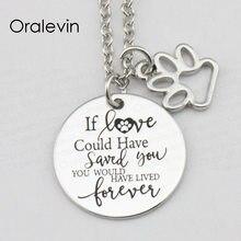Si l'amour aurait pu vous sauver, vous auriez vécu pour toujours inspirant gravé pendentif collier bijoux, 10 pièces/lot, # LN2357