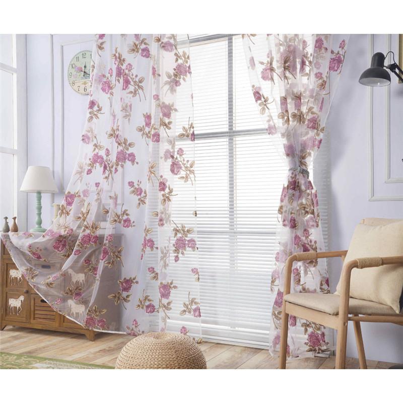 unids moda cortinas de ventana dormitorio romntico barato tratamiento paneles de puerta cortina decoracin de