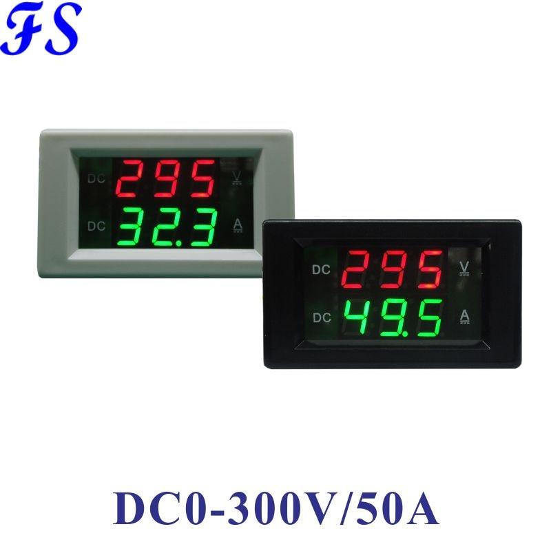 Амперметр, измеритель напряжения постоянного тока 0-300 В, светодиодный цифровой вольтметр, амперметр постоянного тока 0-50 А, измеритель напря...
