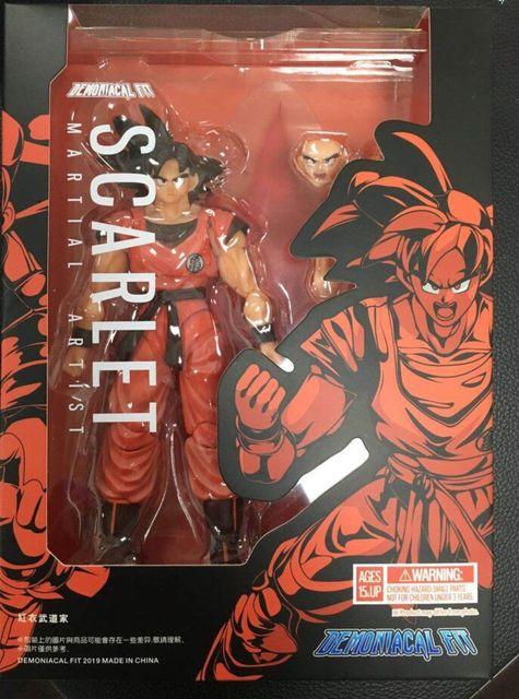 Demoniacal apto ssj goku kaiohken figura de ação escarlate artes marciais artista kaiouken dragon ball z brinquedo filho gokou brinquedos 1/12