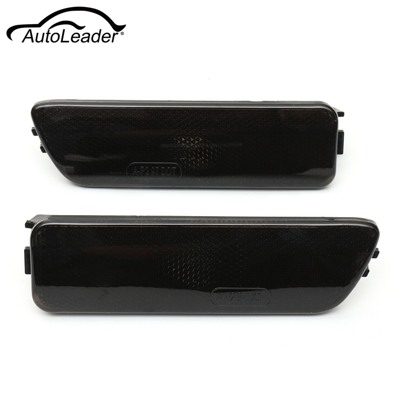 Pair Front Left Right Black Bumper Side Marker Light For Volkswagen Golf Jetta MK4 1999 2000 2001 2002 2003 2004 2005 jeazea glove box light storage compartment lamp 1j0947301 1j0 947 301 for vw jetta golf bora octavia 2000 2001 2002 2003 2004