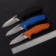 Custom 0770 hot sell folding knife 5CR13 ABS plastic + nylon glass fiber+handle camping outdoor fruit tactics EDC tools