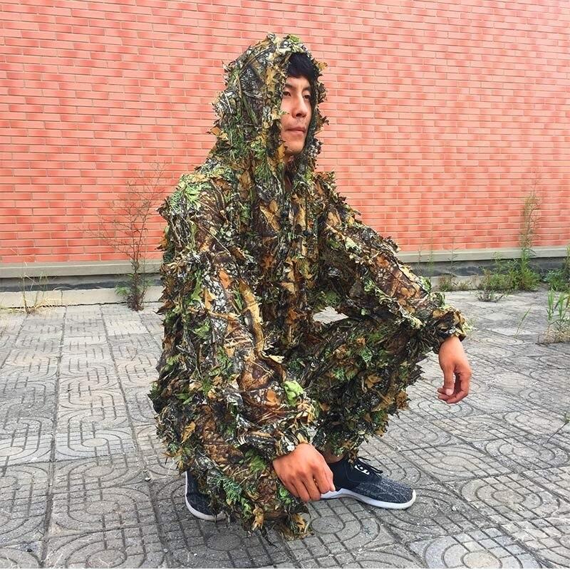 NEW CS 3D Leaf Yowie снайперы Ghillie Suit Джунгли - Спорттық киім мен керек-жарақтар - фото 2
