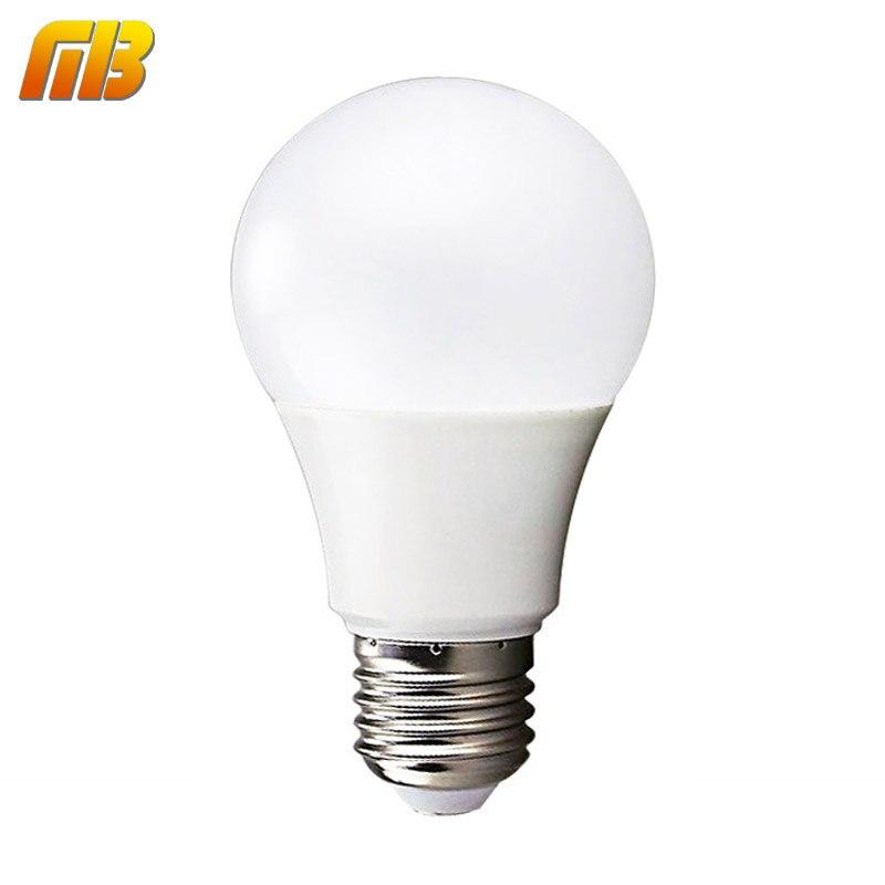 Lâmpada de de Bulbo LED de Alto Brilho 3W, 5W, 7W, 9W, 12W, 15W, Potência Real IC Inteligente, Luz de Bulbo 220V E27, Lâmpadas LED