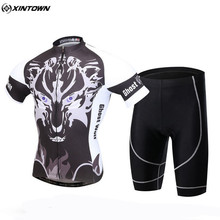 XINTOWN Men Bicycle Team Cycling Jersey Set Outdoor Roupa Ciclismo Spring/Autumn Bike Cycling Clothing With Bib Shorts CC0614