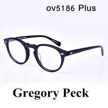 Oliver Vintage glasses frame men Gregory Peck ov5186 Plus size eyeglasses women prescription optical eyewear