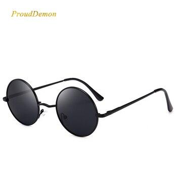 790aeebcae Ray, diseñador de marca, clásico de conducción polarizado gafas de sol  redondas de hombres Retro John Lennon gafas mujer resorte de Metal pierna  gafas