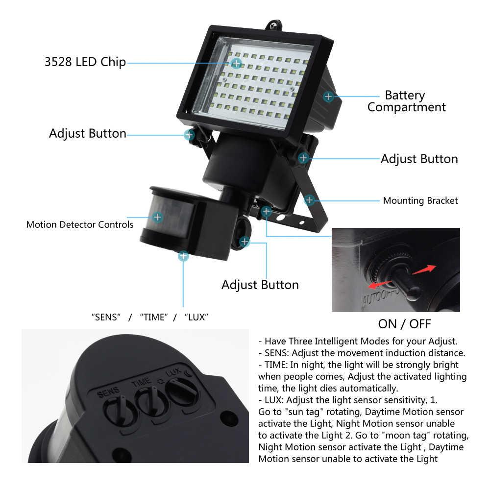 60 светодиодный водонепроницаемый Солнечный свет PIR датчик движения 360 градусов вращается Путь Настенные Лампы Безопасности садовый свет Открытый аварийный свет