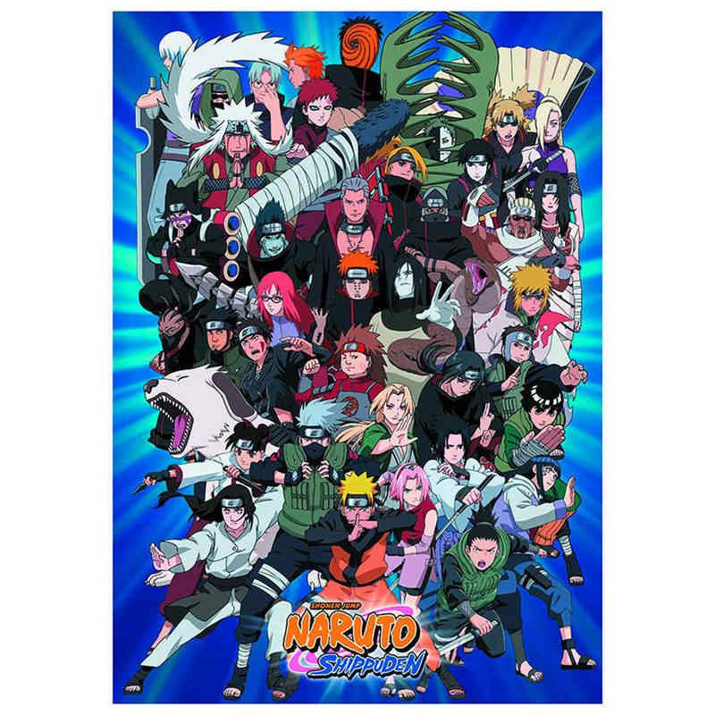 2019 Naruto ร้อนการ์ตูนตัวอักษร Wall Art ภาพวาดพิมพ์โปสเตอร์กระดาษเคลือบตกแต่งบ้าน