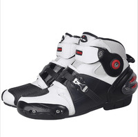 Moto Racing Leather Motorcycle Boots Shoes Motorbike Riding Sport Road SPEED Professional Botas Men Women Black color
