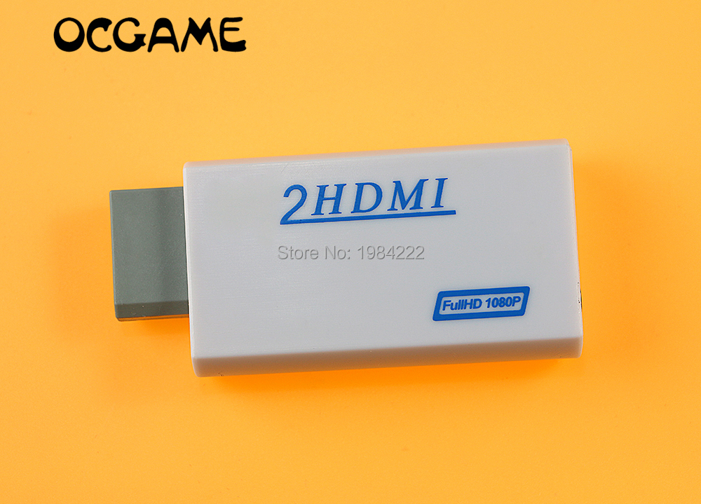 OCGAME For Wii to HDMI Wii2HDMI Adapter Converter 3 5mm Audio Video Output Full HD 720P