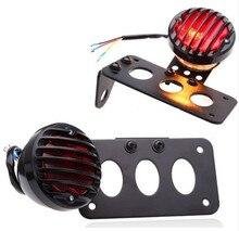 Nuevo Soporte de Matrícula Lámpara de Freno Luz Trasera Para Harley Sportster Bobber Choppers