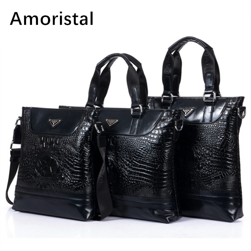 Men Bags Fashion Alligator Pattern Men Messenger Bag Business Genuine Cow Leather Black Shoulder Bag Small Crossbody Bags B050 jason tutu promotions men shoulder bags leisure travel black small bag crossbody messenger bag men leather high quality b206