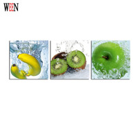 WEEN Framed Printed Fruit Wall Canvas Poster Art Ready To Hang Modern 3 Panel Modular Pictures On The Hall Wall Stretched