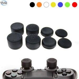 Image 1 - YuXi Analog Stick Joystick Griffe Extra Hohe Verbesserungen Abdeckung Caps Für Sony PlayStation Dualshock 4 PS4 Controller Gamepad