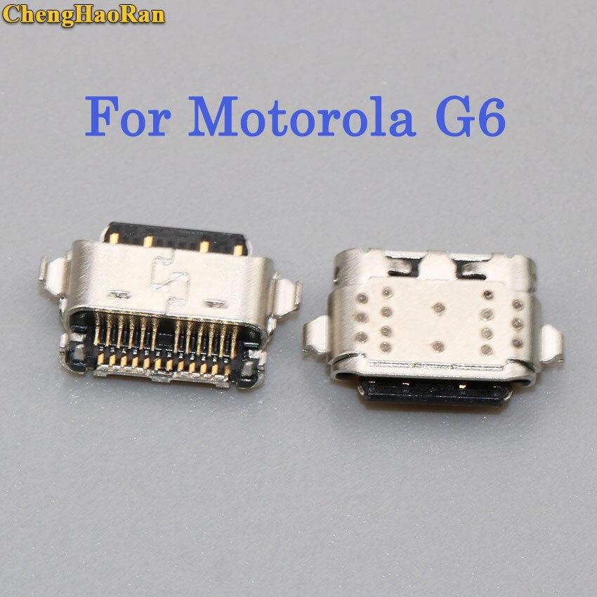 ChengHaoRan 5pcs 10pcs Micro USB jack for Motorola Moto G6 Charging port Mini USB connector charging socket power plug dock in Connectors from Lights Lighting