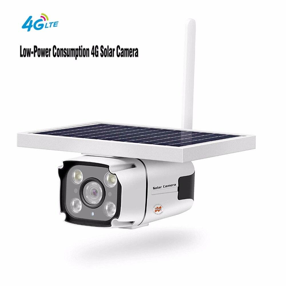 Yobang sécurité sans fil solaire caméra Support réseau 4G avec prise de batterie intégrée extérieure IP67 étanche capteur PIR