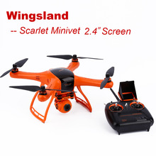 RC Helicopter Wingsland Scarlet Minivet with HD Camera 2.4 Inch Screen FPV RC Quadcopter