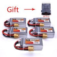 5pcs ZOP Power 14 8V 1500mAh 4S 40C Lipo Battery XT60 Plug Rechargeable Battery