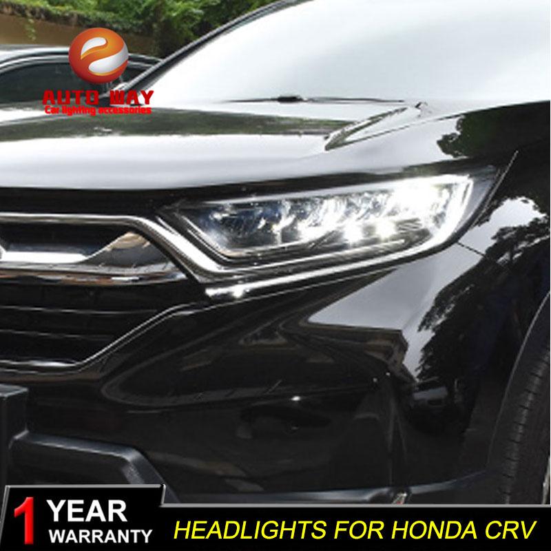 Car Styling Head Lamp case for Honda CRV Headlights CR-V 2017 2018 LED Headlight DRL Lens Double Beam Bi-Xenon HID auto part style led head lamp for porsche 997 series led headlights for 997 drl h7 hid bi xenon lens angel eye low beam